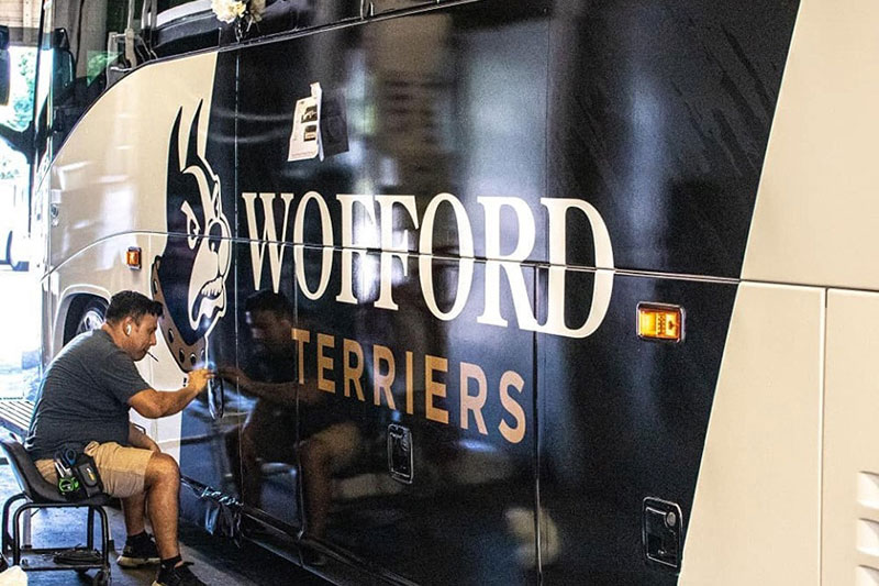 ATS and the Wofford Terriers prepare for travel